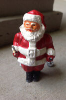 "Vintage Original Barclay Lead Skiing Christmas Santa Figurine 3""Tx2""W Free Ship"