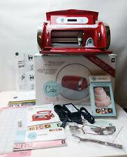 Cricut CAKE Mini Electronic Cutter Machine +BOX+CARTRIDGE+Manual+MORE CCM001 RED