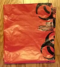 """Biohazard Bags 44""""x46"""" Large Red 10 per order"""
