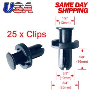 🔥Set of 25 x Bumper Clip Push Type Trim Retainer Clips 91503-SZ5-003 for Honda