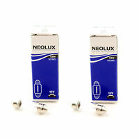 2x Standard Halogen Neolux Rear Number / Licence Plate Light Bulbs Pair