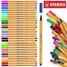 Stabilo 88 30-Color Wallet Set Pens Markers Drawing