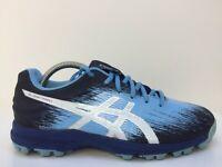 Asics Gel-Hockey Typhoon 3 Blue Leather Sport Trainers P756N Men UK 7 Eur 40.5