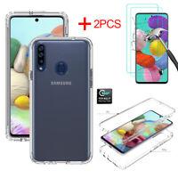 For Samsung Galaxy A10e A20 A50 A20S A51 A71 4G/5G Clear Case+Screen Protector