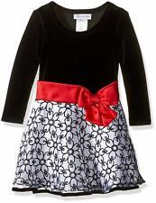 Bonnie Jean Girls' Hipster Dresses, Black/White, 16