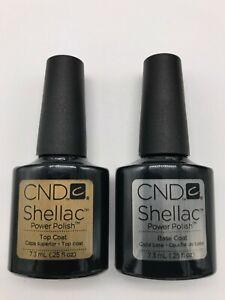CND Shellac Base & Top Coat Gel Nail Polish - Soak Off UV - Free Tracked Post UK