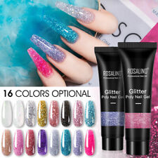 Ladies Glitter Nails Extension Gel Fast Builder Manicure Nail Polish Poly Glue