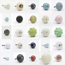 Ceramic Knob, Pull, Handle, for Cupboards, Doors, Cabinets, Drawers, Furniture,