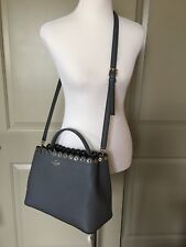 Kate Spade 💯%Authentic PALOMA ROAD JANELL SMOKY PAERL LEATHER SATCHEL