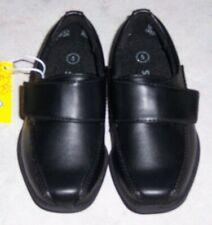 SMARTFIT Grant Strap NEW Toddler Boys Size 5 Black Slip On Dress Shoes