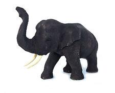 "Vintage Hand Carved Wood Thailand Elephant Sculpture Statue Figure 4"" Trunk Up#1"