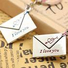 New Envelope Key Key Chain Ring Keyring Lover Gift Couple Keyfob