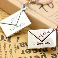 "New Envelope Key Key Chain Ring Keyring Lover Gift Couple Keyfob ""I Love You"""