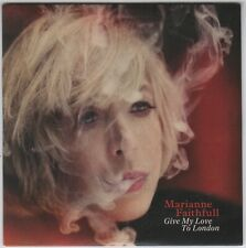 MARIANNE FAITHFULL - Give My Love To London - PROMO Album CD - 2014 - MINT