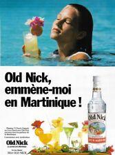 Ancienne publicité papier - advertising paper - Rhum Old Nick