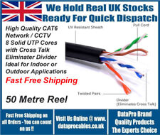 50m CAT6 Black Indoor or Outdoor Use Ethernet Network Cable UTP FAST FREE POST