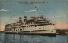 Canada Steamship Lines Steamer Quebec 1931 Used Postcard