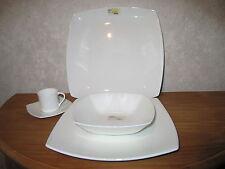 MIKASA *NEW* ELEGANCE WHITE Set 2 assiettes + tasse+plat Set 2 plates+cup+dish