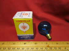 Vintage NOS Yorkville Candelabra Blue Incandescent Light Bulb 10W 130V