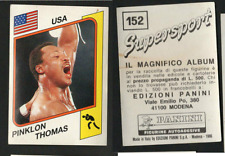 Pinklon Thomas (USA) Panini Boxing CARD Supersport 1986!! NEW n.152!!