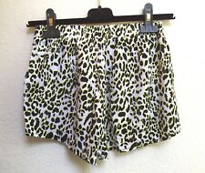 H M Womens Shorts Leopard Animal Print Neon Soft Booty Size 4
