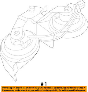 FORD OEM-Horn 2W7Z13800AA