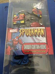 Marvel 12 Decorative Spiderman Shower Curtain Hooks Resin 2004 Jay Franco New