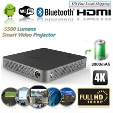2018 Akaso Mini Pocket 5500 Lumens DLP Home Projector Android 4K WIFI 1080p HDMI