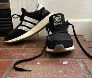Adidas Iniki Original Black White Boost Runner Sneaker Shoes Mens Size 7.5