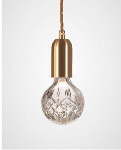 Lee Broom Designer Unique Comtemporary Pendant Gold Drop Crystal Lights Chic