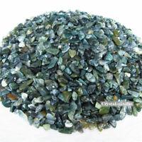 100g Natural Tumbled Green Moss Agate Stones Bulk Chips Crystal Reiki Healing