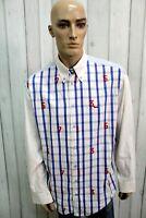 HARMONT&BLAINE Camicia Taglia 2XL Cotone Uomo Chemise Shirt Casual Manica Lunga