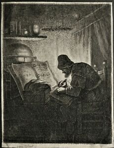 Eau-forte de Jan VAN der VLIET Rembrandt Delft Leiden