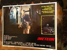 Meteor 1979 American International sci-fi lobby card Sean Connery