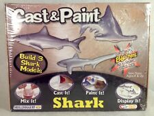 BRAND NEW Skullduggery Cast & Paint Shark Model Kit Build 3 Shark Models