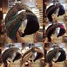 KE_ Rhinestone Knotted Wide Hair Hoop Hairband Women Headband Decor Headwear S