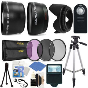 Ultimate Accessory Bundle for Canon EOS Rebel T3i T5i T6i Tripod, Filters, Flash