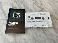 Van Halen Women And Children First CASSETTE Tape 1980 Warner W5 3415 Sammy Hagar