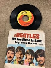 THE BEATLES ALL YOU NEED IS LOVE / BABY YOU'RE A RICH MAN WC PS LISTEN!
