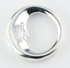 """Tiffany & Co. """"Man in the Moon"""" Teething Ring Rare & Retired! 33.1 grams"""