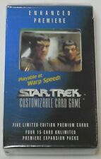 Decipher Star Trek Enhanced Premiere Data and Picard CCG Sealed NEW
