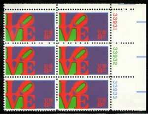 Love - Scott #1475 Plate Block of 6 stamps MNH