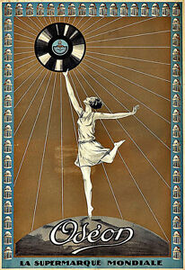 Art Ad Odéon records Vinyl  Deco Poster Print