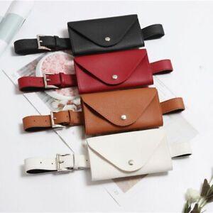 Waist Bag Phone Pouch PU Leather Fanny Pack Belt Small Chest Messenger Case Cute