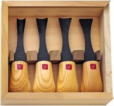 Flexcut FR704 Super Wide Carving Tools Palm Fitting Wooden Handles Set of 4