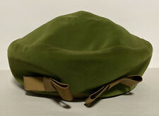 Vintage 1950s Vivi by Elite Green Velvet W/ Brown Satin Bows Ladies Women's Hat