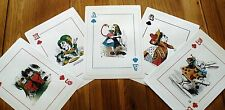FIVE LARGE MAD HATTER TEA PARTY PLAYING CARD - Decorations / Props A4 size