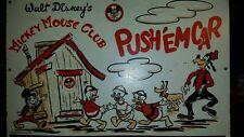 Vintage 1950's Walt Disney Productions Mickey Mouse Club Push'em Cart toy box