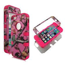New Pink Kamo V Pink strip Hybrid Tuff Apple iPhone SE Case Cover  5S