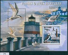Sao Tome e Principe 2009, MISPERF SHEET: Lighthouses and Marine Birds